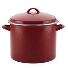 Paula Deen 46324 Enamel on Steel Covered Stockpot Red Speckle - 12 qt