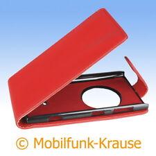 Flip Case Etui Handytasche Tasche Hülle f. Nokia Lumia 1020 (Rot)
