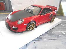 PORSCHE 911 997 II GT2 RS 2011 rot red golden wheels Minichamps lim SP 1:18
