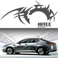 2Pcs Car Side Body Vinyl Sticker Wheel eyebrow flame hot wheels Racing Decal