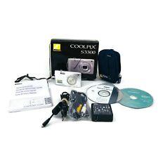 Nikon Coolpix S3300 Digital 16 Mega Pixel Camera Case USB SD Card CD Book Bundle