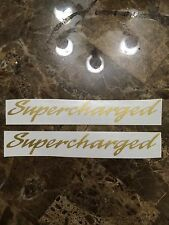 NOS Mustang SUPERCHARGED DECAL Sticker for 89-98 GOLD SALEEN GT COBRA ROUSH