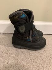 Kamik Toddler Boys Waterproof Black Winter Snow Boots Size 7 Lined Warm!