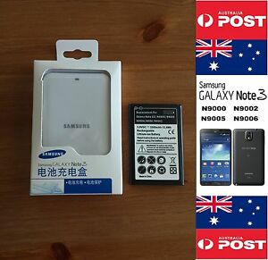Samsung NOTE 3 N900 With Replacement Battery + Retail White Charger Dock Kit