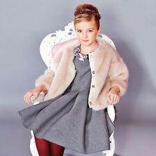 MONNALISA BABY FAUX FUR PINK JACKET COAT 24 MONTHS