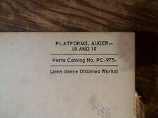 John Deere 18 19 Platform Auger Parts Catalog Manual Book Original Pc-975