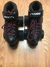 Size 1  Carrera  Black Riedell Skates Youth Speed Skates