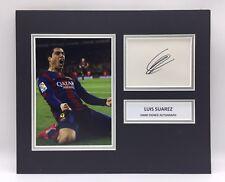 RARE Luis Suarez Barcelona Signed Photo Display + COA AUTOGRAPH BARCA LIVERPOOL