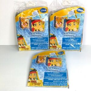 Jake & Neverland Pirates Arm Floats Ages 3+ (Lot of 3)   *2A