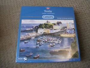 GIBSONS JIGSAW - TENBY - By TERRY HARRISON - 500 Piece - NEW/SEALED BOX