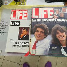 2 Back Issues of Life Magazine, 1984 JFK Memorial Edition, & Nov 1988 issue