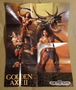 Vintage 1993 Sega Genesis Golden Axe II Poster (D-1)