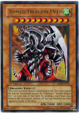 Yugioh Armed Dragon LV10 DP2-EN013 Unlimited Ultra Rare Lightly Played Fast Ship