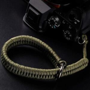 Camera Wrist Strap (550 Paracord/Green) Higher-end and Safer Adjustable Camera L