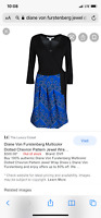 DIANE VON FURSTENBERG Style Name JEWEL Black Blue White Wrap Dress size 10