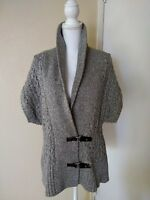 Womens Tommy Hilfiger Cardigan Sweater Thick Chunky Cable Knit XL Large L M