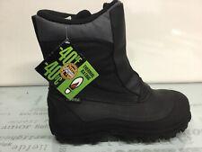 Tundra Mens Vermont Black Snow Boots Size 10