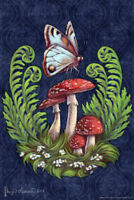 Evening Toadstools by Brigid Ashwood Art Print Poster 12x18 inch