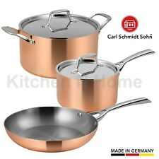Copper Cookware Set,Frypan,Saucepan,Casserole,Induction, 18/10 Stainless Germany