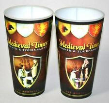 Medieval Times Dinner & Tournament Plastic Collectors Drinking Cup Pair Of 2
