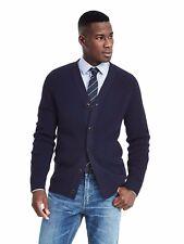Brand New Banana Republic Fashion Rib Merino Cardigan Color Navy Size S #382432