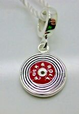.925 STERLING SIVLER EUROPEAN RECORD PLAYER MUSIC PERSONA CHARM NEW  TAGS #28