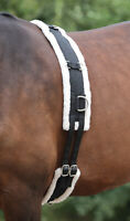 SALE Shires Adjustable Lunging Lunge Roller Soft Fleece Padding With Girth Black