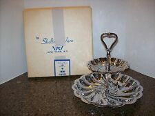 VTG by Shelton Ware 2 Tiered Chrome Tid Bit Serving Tray NEW In Original Box