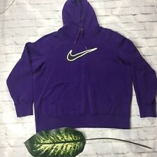 Nike Women's Size XL Purple Hooded Sweater Pullover Long Sleeve Logo