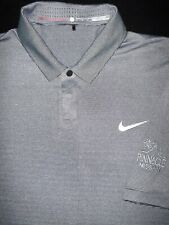 NIKE TIGER WOODS- GOLF POLO SHIRT -L- SILVER GRAY STRIPE -SOFT SWOOSH STRETCH