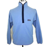 Patagonia Synchilla Mens Small 1/2 Zip Blue Navy Trim Fleece Pullover Jacket