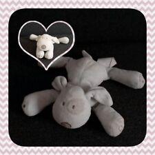 Peluche Doudou Obaibi chien blanc  TBE 21cm