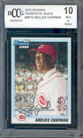 2010 bowman prospects black #bp10 AROLDIS CHAMPAN rc BGS BCCG 10