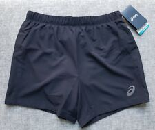 ASICS Mens Motion Dry Race 5IN Performance Running Shorts S Black 0904 Brand New