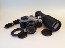 Canon AE-1 Program 35mm SLR Film Camera with 28mm lens FD 1:2.8 + 100mm-300mm