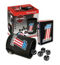 Harley Davidson Game Set- Harley Davidson #1 Cards & Dice Set w/ Cup