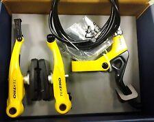 Yellow Tektro 930AL BMX LINEAR-V BRAKE  Brake Set w/313 Lever Rear, 95mm Arms