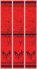 """15 - 6x1"""" Skull Stripes on Fluoro Red Arrow Wraps"""