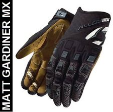 KIDS ALLOY MOTOCROSS GLOVES mx ENDURO 06 ATOM BLACK new LARGE 7 bike enduro