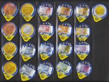 Série étiquettes crèmes à café Euro Monnaies billets