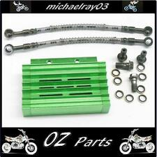 CNC Oil Cooler Kit Pit Bike Mini Bike 140cc 150cc 160cc ATV  QUAD GREEN