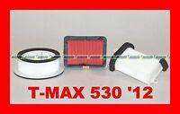 YAMAHA T-MAX 530 12 SERVICESATZ LUFTFILTER+FILTER LUFT CARTER RECHTS UND LINKS