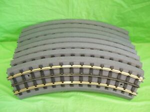 MTH Real Trax Original *Solid Nickle Rail 0-31 Curves Complete Circle ( 8 piece)