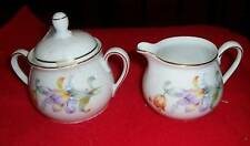 Covered Sugar & Creamer  Bavaria Vintage Floral Pattern