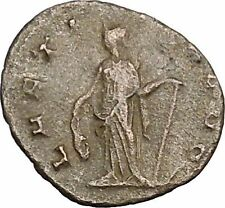 Gallienus Ancient Roman Coin Happiness Cult  Anchor = Fresh start, hope  i39166