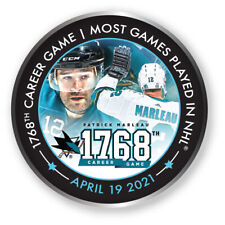 San Jose Sharks Commemoritive Broche Patrick Marleau #12 1768 Jeux Played NHL