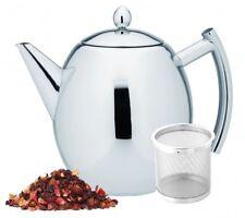 1,5 L. Edelstahl Kanne inkl. Sieb Teekanne mit Teesieb Kaffeekanne Teebereiter