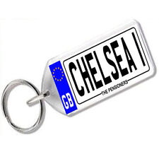 "NUMBER PLATE KEYRING FOR FOOTBALL FANS "" CHELSEA 1 """