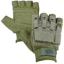 Valken V-Tac Half Finger Plastic Back Padded Gloves Od Medium Paintball Airsoft