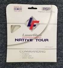 Laserfibre Native Tour 17 Gauge 1.25mm Tennis String Pearl White MADE IN THE USA